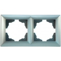 Рамка 2-я серебристый металлик Visage 1281500000141