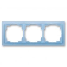 Рамка 3-постовая горизонтальная белый/синий лед 3901M-A00130 41 Neo ABB