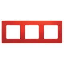 Рамка 3-постовая LEGRAND ETIKA 672533 красный