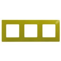 Рамка 3-постовая LEGRAND ETIKA 672543 зеленый папоротник