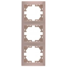 Рамка 3-кратная вертикальная LEZARD MIRA 701-0300-153 крем