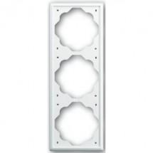 Рамка 3-постовая 1723-74 ABB Impuls белый цвет
