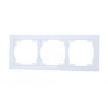 Рамка 3-постовая горизонтальная белая/белый лед Neo 3901M-A00130 01