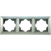 Рамка 3-я серебристый металлик Visage 1281500000143 GUNSAN