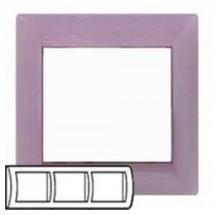 Рамка 3-постовая Legrand Valena 770053 виола горизонтальная