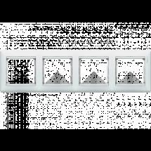 Рамка 3-постовая Legrand Valena 774454 тёмное деревосеребро