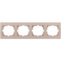 Рамка 4-я LEZARD DERIY 702-0303-149 горизонтальная крем