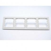 Рамка 4-постовая белый цвет PERA + вставка GES 2101-801-1401