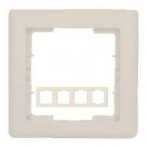 Рамка 4-постовая горизонтальная бежевый цвет HANAK GES 2120-800-1402