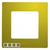 Рамка 4-постовая LEGRAND ETIKA 672544 зеленый папоротник