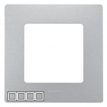 Рамка 4-постовая LEGRAND ETIKA 672554 алюминий