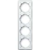 Рамка 4-постовая 1724-74 ABB Impuls белый цвет