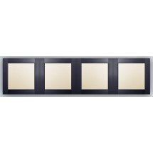 Рамка 4-постовая антрацит-matt Fiorena 22011920 Hager  Polo