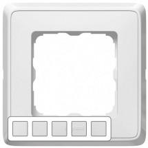 Рамка 5-постовая Legrand Cariva 773655 белый цвет