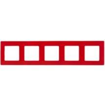 Рамка 5-кратная ETIKA 672535 красная