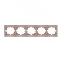 Рамка 5-постовая LEZARD MIRA 701-0300-150 горизонтальная кремовый цвет