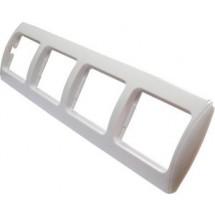 Рамка 5-постовая Рм-4-Sq-W белый цвет Укрем АсКо