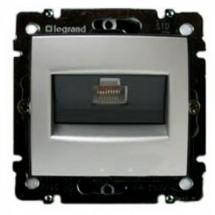 Розетка одинарная компьютерная Legrand Valena RJ-45 5е 770230 алюминий