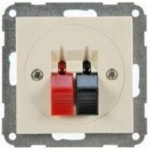 Розетка акустическая HAGER LUMINA-2 WL3311 кремовый цвет