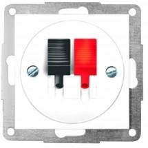 Розетка аудио 2 выхода антрацит-matt Fiorena 22061020 Hager  Polo