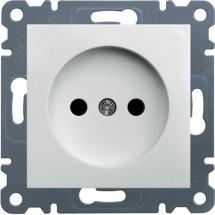 Розетка без заземления HAGER LUMINA-2 WL1010 белый цвет