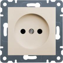 Розетка без заземления HAGER LUMINA-2 WL1011 кремовый цвет