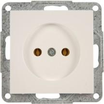 Розетка без заземления 16А ~ 250V Fiorena 22003002 Hager / Polo белый цвет