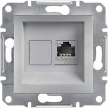 Розетка РС RJ45 кат5е 125МГц ASFORA алюминий EPH4300161