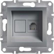 Розетка ПС RJ45 кат5е 125МГц ASFORA сталь EPH4300162 компьютерная