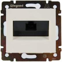 Розетка одинарная компьютерная RJ-45 Legrand Valena 774238 белая