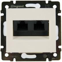 Розетка двойная компьютерная RJ-45 Legrand Valena 774231 белая