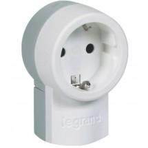 Розетка Legrand с заземлением 16A 50199 переносная белая