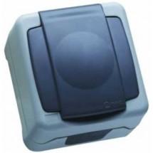 Розетка MAKEL Nemliyer Plus IP55 с Z заземлением и крышкой 36064029 накладная серый цвет