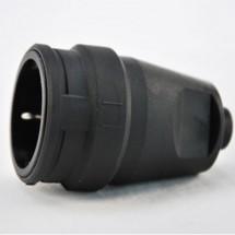 Розетка-муфта Z с заземлением 16А резиновая черная 1329.212 ABL SURSUM