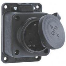 Розетка накладная Z с заземлением 16А 3101-306-0300 для электро удлинителя каучук