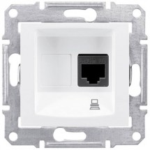 Розетка PC компьютерная RJ45 кат5е UTP Sedna Schneider SDN4300121 белый цвет