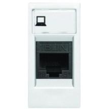 Розетка PC RG45 ABB Zenit N2118.1 BL белая