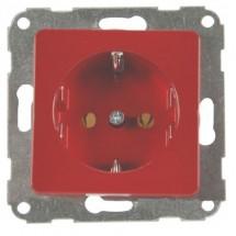 Розетка с заземлением FIORENA 22000599 Hager/Polo 16А/250В красная-matt