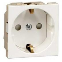 Розетка с заземлением и шторками 16А 250В W45 RN16-113-BE SCHNEIDER ELECTRIC для кабель канала