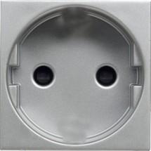 Розетка со шторками ABB Zenit N2203 РL Z серебро