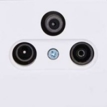 Розетка ТV-R-SAT телевизионная концевая белый цвет 2100-161-0201 GES