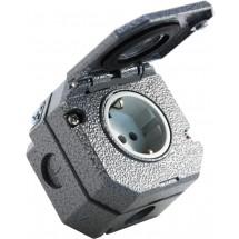 Розетка Z c заземлением и крышкой ІР55, ABB Garant 5518-3750 накладная