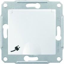 Розетка Z с заземлением / защитными шторками / крышкой 16А Sedna Schneider SDN3100121 белый цвет