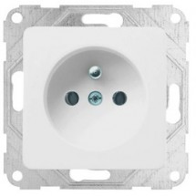 Розетка Z с центральным контактом заземления 10А Optima 12000102 Hager / Polo белый цвет