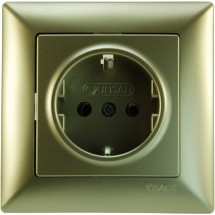 Розетка Z с заземлением беж-металлик Visage 1282500100115