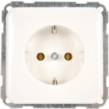 Розетка Z с заземлением 16A Regina Hager / Polo 13000507 белый цвет