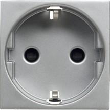Розетка Z с заземлением 5518Е-А01459 31 ABB Time арктик металлик
