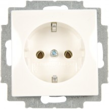 Розетка Z с заземлением ABB Basic 55 20 EUC-94-507 16А белый цвет