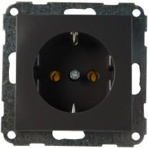 Розетка Z с заземлением (антрацит) Fiorena 22000520 Hager / Polo