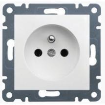 Розетка Z с заземлением HAGER LUMINA-2 WL1050 белый цвет